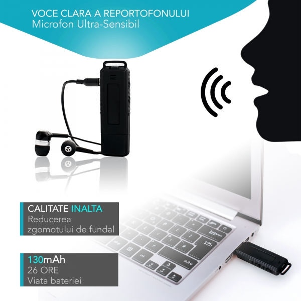 Stick USB 8Gb reportofon spion profesional 8Gb