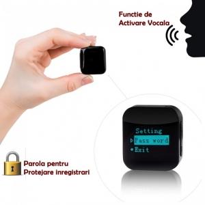 Modul Reportofon Spy Minuscul cu Parola si Activare Vocala Setabila, Memorie 8GB - 572 de Ore - 1536 kbps, Model aTTo 8GB