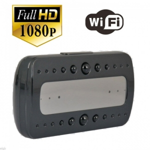 Ceas birou-microcamera video WI-FI IP P2P pentru spionaj discret, 32 Gb, HD