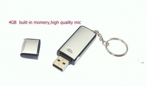 Reportofon spion cu senzor de activare vocala in stick usb 4 Gb